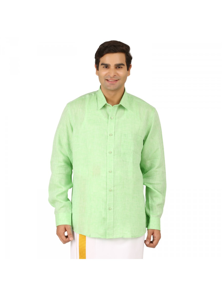 Parrot Green Full Sleeve shirts 5bb8e4d3a